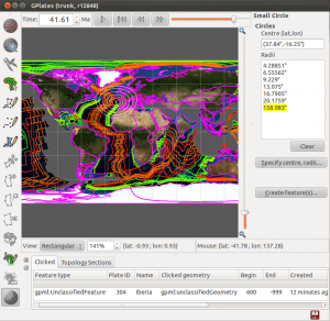 World topography bathymetry reconstructed in Map View