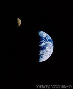 Farewell to Earth. Credit: NASA/SCIENCE PHOTO LIBRARY